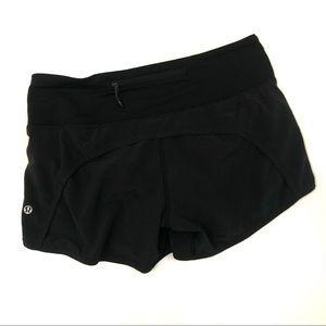Lululemon Run Times Shorts Solid Black Swift Ultra